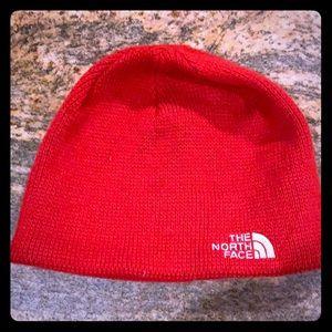 Red NorthFace beanie